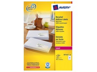 Box of 100 recycled labels 99,1 x 33,9 mm Avery LR 7162 white