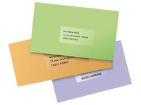 Pak 25 adresetiketten Avery J 8567 210 x 297 mm voor inkjetprinter