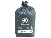Sac poubelle gris 160 litres Bruneau qualité supérieure - Colis de 200