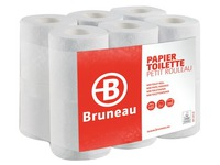 Box of 96 toilet paper rolls 200 sheets Bruneau double layered