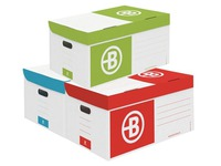 Pack 10 archive cases + 60 boxes Bruneau 10 cm in kraft assorted colours