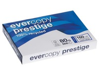Recycletes Papier A3 weiß 80 g Clairefontaine Evercopy Prestige - Riemen von 500 Blatt