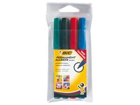 Permanent marker Bic 2000 conical tip 1.7 mm - Pack of 4 assorted colours