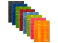 Notebook Clairefontaine spiral binding 100 pages 21 x 29,7 cm lined assorted colors