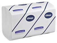 Box of 2160 hand wipers z-folded Kleenex Airflex Super soft
