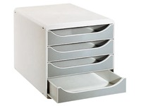 Big Box 4 drawers light grey