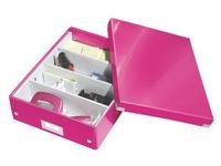 Boîte de rangement carton Leitz Click&Store Wow avec séparateurs H 10,5 x L 27,8 x P 36,8 cm couleur