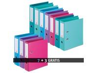 Set 7 hefboommappen Bruneau rug 7,2 cm geassorteerde kleuren + 3 gratis