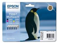 Epson Multipack T5597 - zwart, geel, cyaan, magenta, lichtmagenta, lichtcyaan - origineel - inktcartridge (C13T55974010)