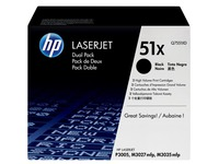 HP 51X - 2 - hoog rendement - zwart - origineel - LaserJet - tonercartridge (Q7551XD)
