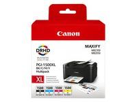 Canon PGI-1500XL C/M/Y/BK Multipack - 4er-Pack - Hohe Ergiebigkeit - Schwarz, Gelb, Cyan, Magenta - Original - Tintenbehälter