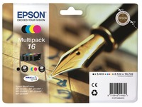 Epson 16 Multipack - 4-pack - black, yellow, cyan, magenta - original - ink cartridge