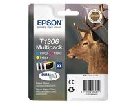 Epson T1306 Multipack - geel, cyaan, magenta - origineel - inktcartridge (C13T13064010)