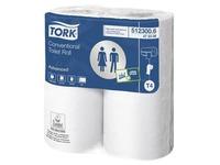 Papier toilette double épaisseur Tork Advanced 300 - Carton 40 rouleaux 300 feuilles