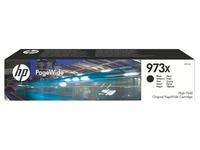 HP 973X - hoog rendement - zwart - origineel - PageWide - inktcartridge