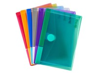 Tarifold velcro document holder 16,5 x 10,9 cm assorted colours - pack of 6