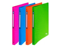 Folder 4 rings plastic Elba Art Pop A4 back 2 cm assorted colours