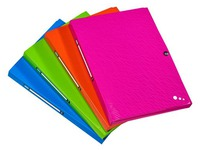 Plastic box folder Pop Art Elba 24 x 32 cm back 2,5 cm assorted colors