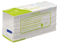 Box of 4840 hand wipes recycled folded in Z double thickness white