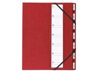 Sorting folder luxury metal Extendos 7 divisions bordeaux