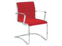 Bezoekersstoel Milano leder - Rug H 40 cm