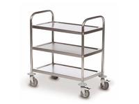 Rolwagen 3 platforms inox 18/0 - draagkracht 100 kg
