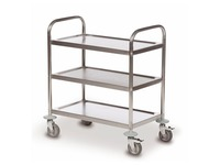 Trolley 3 trays stainless steel 18/0 - capacity 100 kg