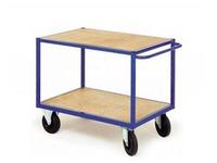Rolwagen voor atelier 2 houten platformen breedte 126 cm - draagkracht 500 kg