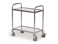 Trolley 2 trays stainless steel 18/0 - capacity 100 kg