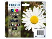 Epson 18XL - 4 - XL grootte - zwart, geel, cyaan, magenta - origineel - inktcartridge (C13T18164012)