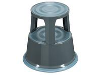 Mobiler Rollhocker in Metall mit 2 Stufen