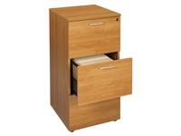 Classeur bois décor aulne 3 tiroirs pour dossiers suspendus