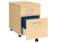 Mobiler Rollcontainer Holz 2 Schubladen Arko
