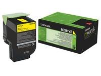 Toner Lexmark 80C2H hoge capaciteit geel voor laserprinter