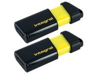Pack 2 USB sticks Integral Pulse 64 Gb