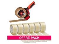Pack verdeler voor plakband + 6 Bruneau transparante rollen gratis