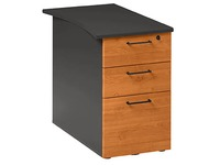 Cabinet at desk height Quarta Plus 3 drawers with depth 80 cm alder - anthracite