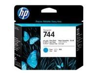 HP 744 - cyaan, fotozwart - printkop (F9J86A)