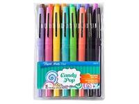Stylos feutre Papermate Flair Candy POP écriture moyenne - Pochette de 16 couleurs assorties