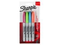 Markeerstift SHARPIE FUN kleuren - pakket van 4 markers