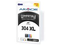 Pack inktpatronen Armor voor inkjetprinters kleur compatibel met HP 304XL