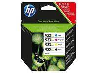 Pack HP 932 XL zwart en 933 XL kleuren