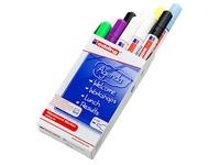 Erasable marker EDDING E90 for glassboard - sleeve of 10 assorted colors