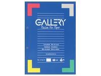 Gallery cursusblok, ft A4, 80 g/m², 2-gaatsperforatie, gelijnd, 100 vel