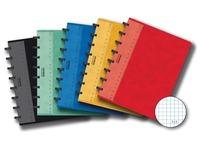 Adoc schrift Classic ft 16,9 x 21,3 cm, geruit 5 mm  kleuren: zwart, groen, blauw, geel, rood, 2 per k...