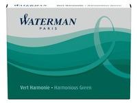 Waterman inktpatronen Standard groen, pak van 6 stuks