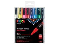 Marqueur peinture Posca 0,9-1,3mm ass set de 8 pièces