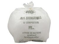 Sac poubelle blanc 80 litres biodégradable ATOUBIO - Carton de 200