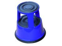 Tabouret Desq 42cm métal bleu